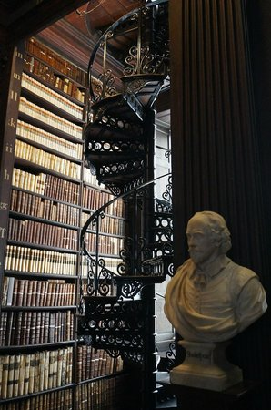 The Book of Kells and the Old Library Exhibition: Spiral Staircase to the Second Floor