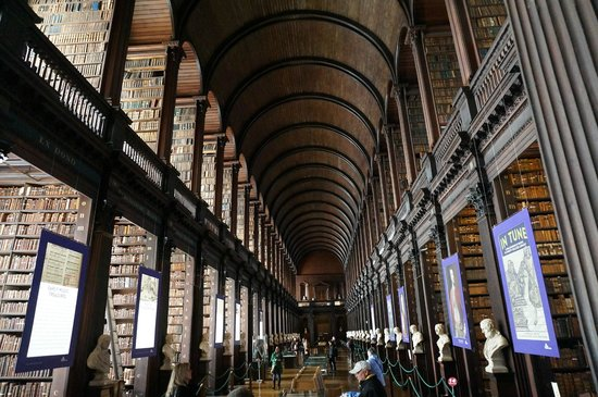 The Book of Kells and the Old Library Exhibition: Beautifully large Library
