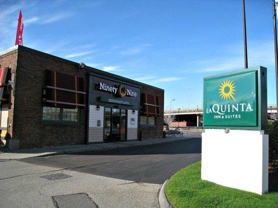 La Quinta Inn Suites Boston Somerville Ninety Nine Restaurant Just In Front Of