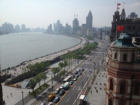 Fairmont Peace Hotel: view of the bund from the dining room