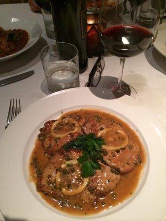 Ombra Cucina Rustica: veal scallopini with lemon sauce