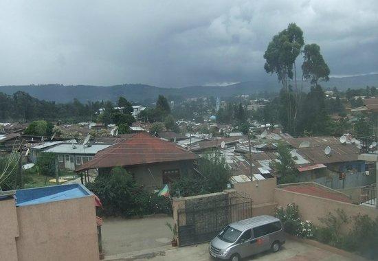 Addis Regency Hotel: View from 3rd floor room