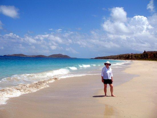 Zoni Beach: Nice long beach walk to the left