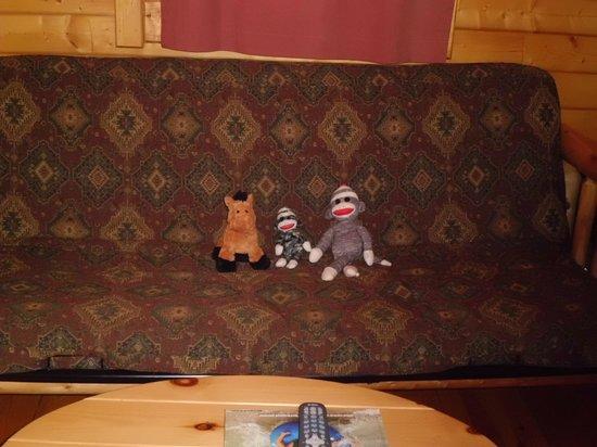 Frontier Town: Futon in great Room of deluxe cabin