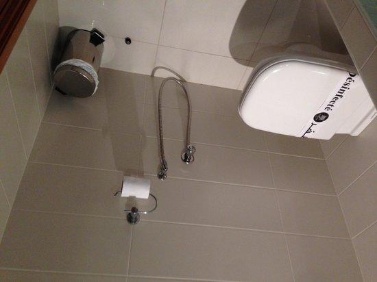 Carlton Hotel Tunis: トイレ 真ん中のホースがウォシュレット