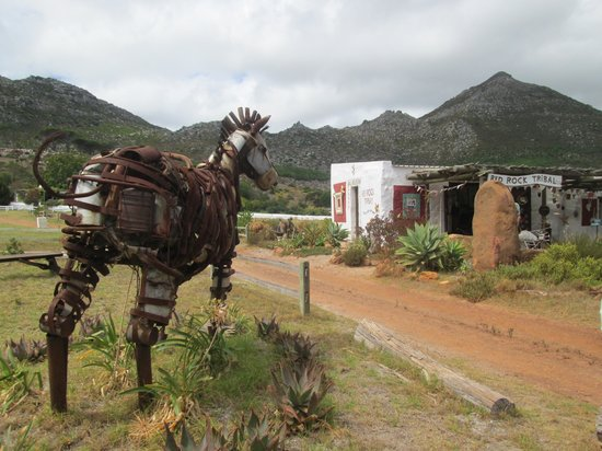 Redhill, South Africa: Red Rock Zebra Sculpture