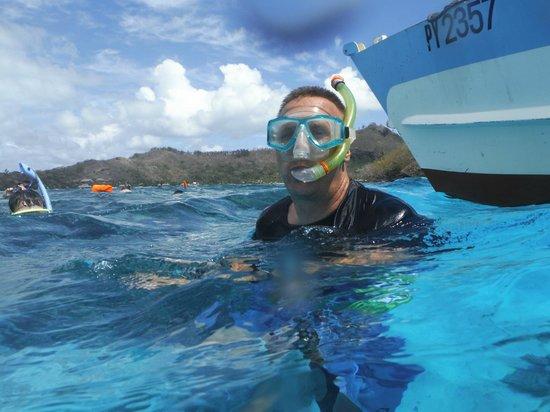 Bora Bora Lagoonarium : Hubby