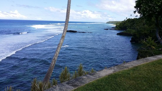 To Sua Ocean Trench: A view from the gardens at To Sua Trench Samoa