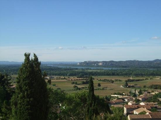 Wine Safari: one of the views from the Pope's summer chateau looking out at the vineyards.