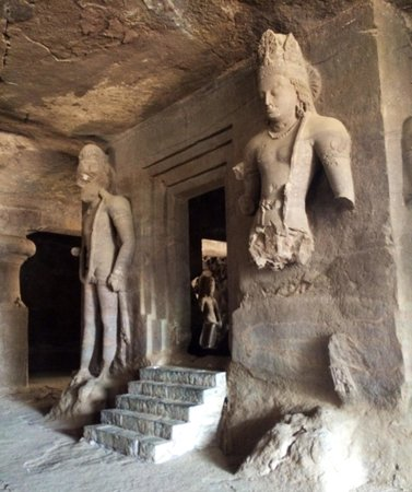 Elephanta Caves: Entrance