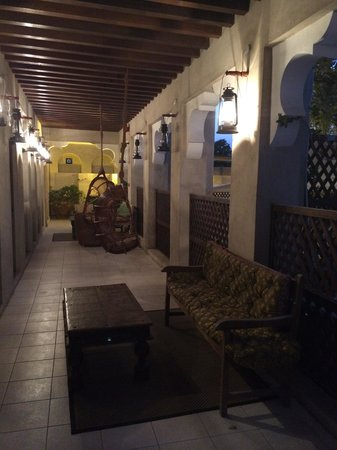 XVA Art Hotel: Upstairs guest sitting/chilling area