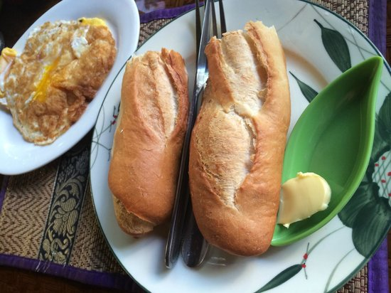 Sawasdee Angkor Inn: 朝食は数種類から選べます♪