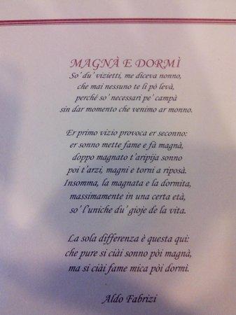 Osteria Allegro Pachino : Poesia na mesa!