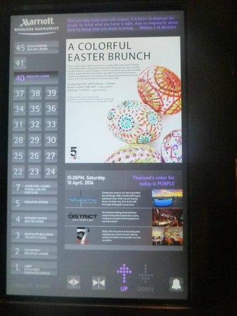 Bangkok Marriott Hotel Sukhumvit : Cool Elevator