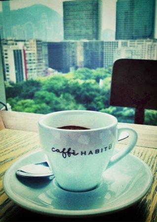Habitu Cafe : Nice espresso coffee made with a La Marzocco machine! ☕️��
