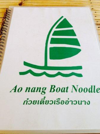 Ao Nang Boat Noodle : Signboard
