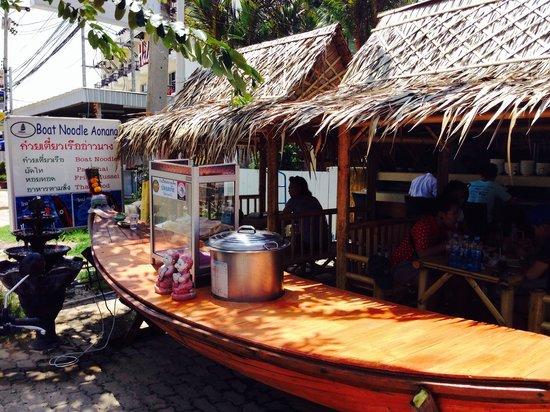 Ao Nang Boat Noodle : Their display