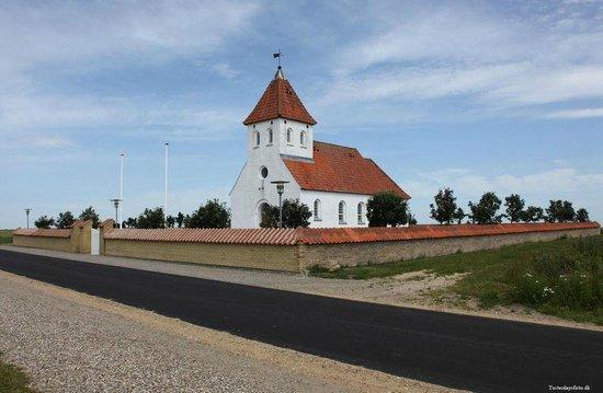 Karby, เดนมาร์ก: hjørne foto af kirken