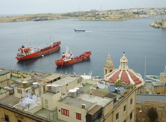 Valletta Studios: le port vu du balcon