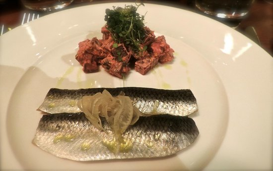The Royal Oak : Pickled Herring and Beetroot Salad