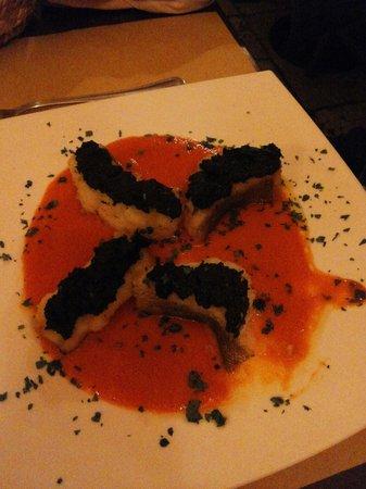 Portonaccio : Baccalà con crema di peperoni e olive...