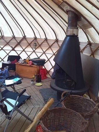 Eco Retreats: Log fire