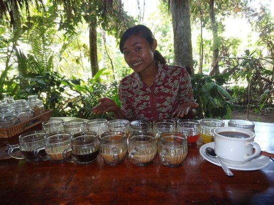 Teba Sari Bali Agrotourism: Our guide Koman and the tasting!