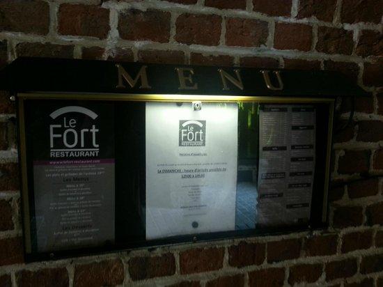 Le Fort : menu (entrée)