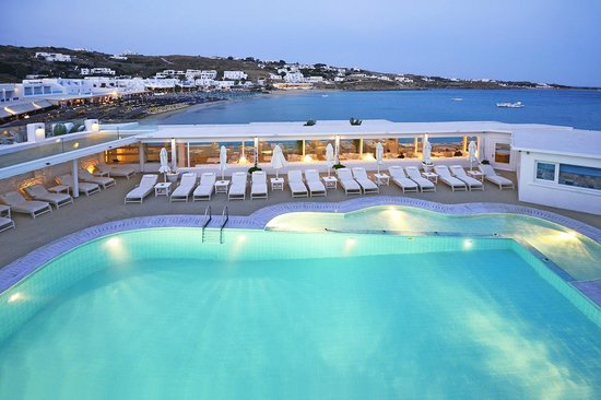 Platys Gialos, Hellas: Pool Area