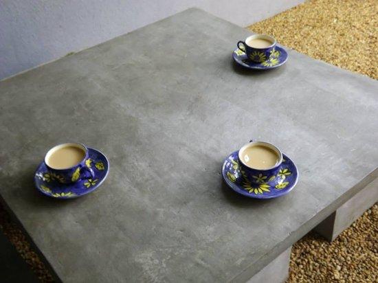 Palm Nest: Morning tea in the garden