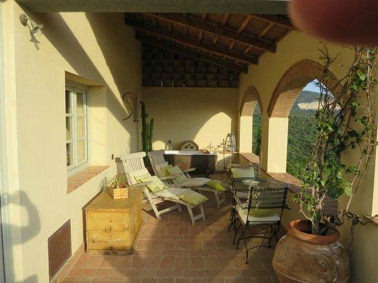 Relais Poggio Ai Santi: Terrasse der Royal Suite