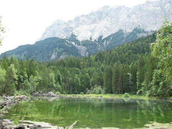 Eibsee: Вид на гору