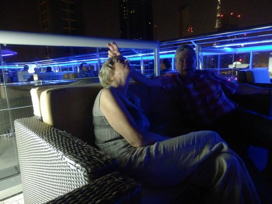 Four Points by Sheraton Sheikh Zayed Road, Dubai : In the bar on the roof