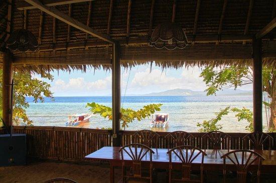 Raja Laut Dive Resort: Ausblick vom Restaurant