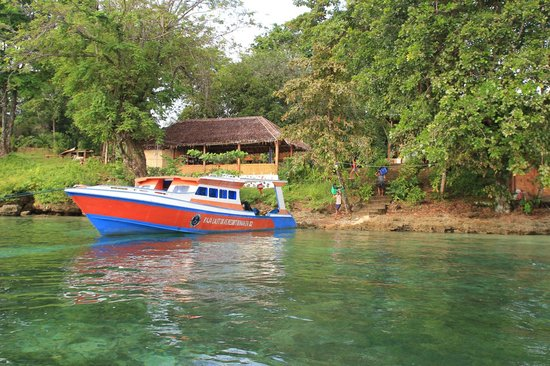 Raja Laut Dive Resort: Das Resort vom Meer aus