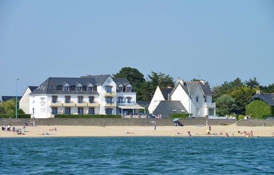 Vue Hôtel de la plage Damgan de la mer
