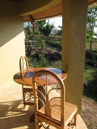 La Tierra Divina : our private terrasse for breakfast