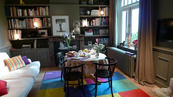 La Villa: Le salon et lieu du petit déjeuner
