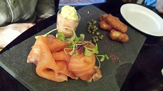 The Pins Gastro Bar: Fresh smoked and confit salmon...