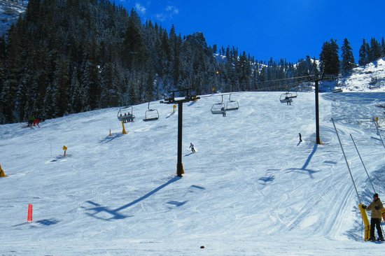 Squaw Valley Ski Area: One of the few areas skiable