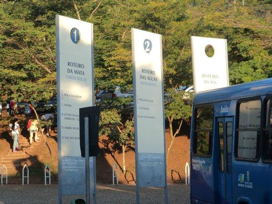 Parque das Mangabeiras: A entrada