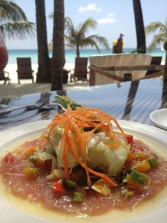 Ambassador in Paradise Resort: Tuna carpaccio (part of set lunch)