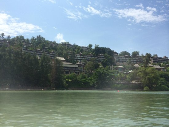 The Westin Siray Bay Resort & Spa Phuket: View of hotel from the sea
