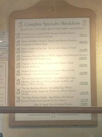 Golden Pear Cafe : The 2012 price list - look for fun for this year's price rises...