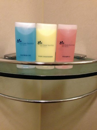 Ocean Suites Jeju Hotel : Shampoo and soap