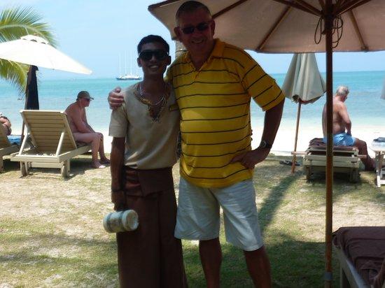 """Cape Panwa Hotel: Notre plagiste """"préféré"""": Weerapong"""