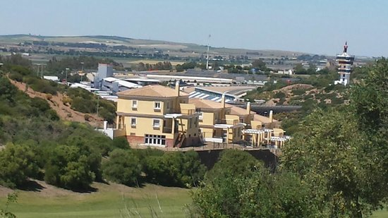 Barcelo Montecastillo Golf: A look over to the Jerez Circuit (Motorbikes I think)