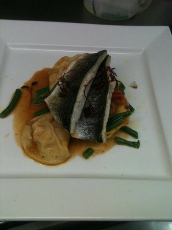 The Lime House: Black Bream with Seafood Ravioli
