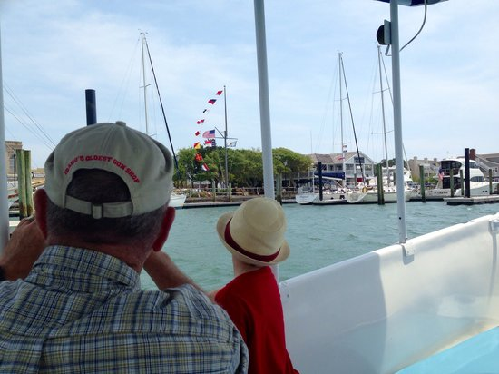 Waterbug Tours: Yardarm on the Beaufort docks.