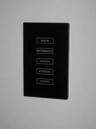 Sama-Sama Hotel: Light control panel
